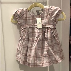 NWT GAP purple striped dress with bottom cover